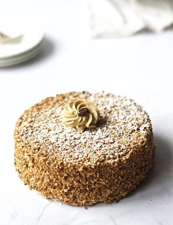 Afbeelding van Mokka Nougatine taart